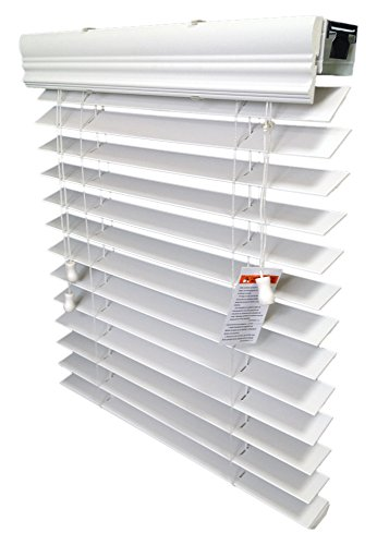 2″ Faux Wood Blind, Inside-Mount, 70 1/8 W X 60″ H, White