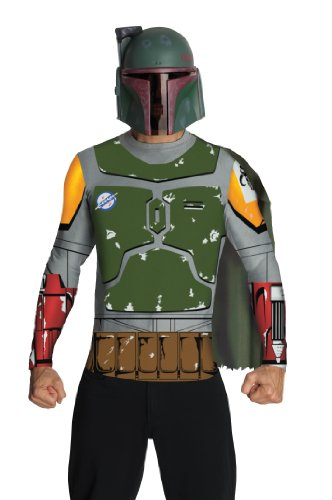 Boba Fett Halloween Costumes (Star Wars Adult Boba Fett Costume Kit, Multicolor, Medium)