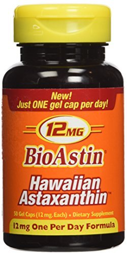 Nutrex Hawaii Bioastin Hawaiin Astaxanthin 12 mg 50 Caps (One Bottle)