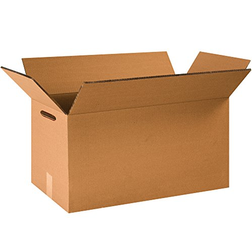 """Heavy-Duty Large Moving Boxes with Hand Holes, 24"""" x 12"""" x 12"""", (Pack of 15)"""
