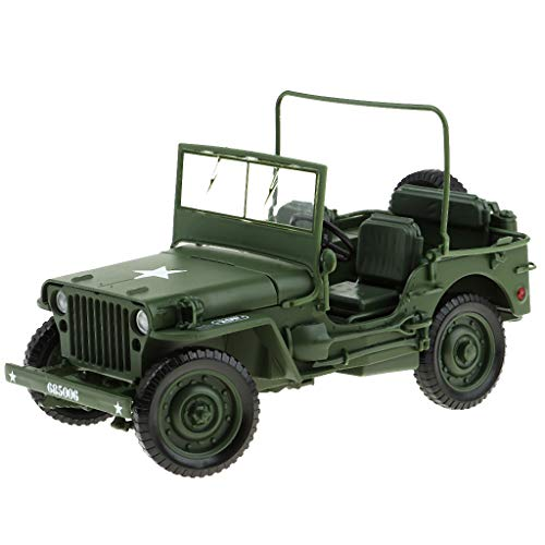 (Flameer 1:18 Jeep Car Military US Army Force Vehicle Well-Made Diecast Toy Model)