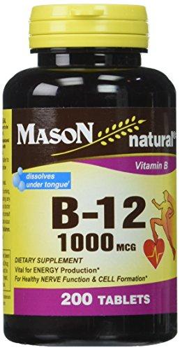 Mason Vitamins B 12 1000 mcg Dissolves Under Tongue Tablets, 200 Count