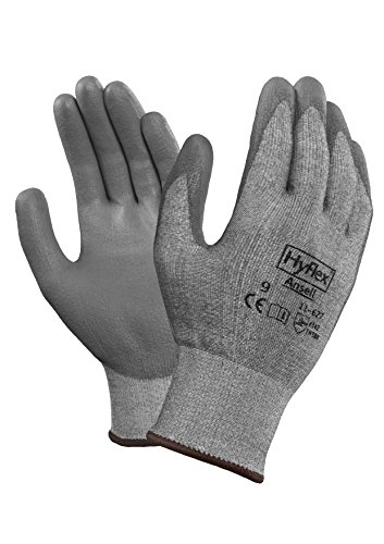 Ansell HyFlex 11-627 Lycra Light Duty Safety Glove with DSM Dyneema Technology, Abrasion/Cut Resistant, Size 7, Gray (Pack of 12 Pair) ()