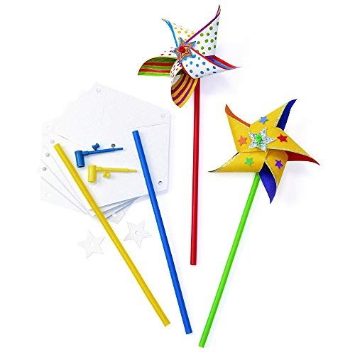 (Colorations Pinwheel Design Your Own Pinwheel Kit for 24 (Pack of 24))