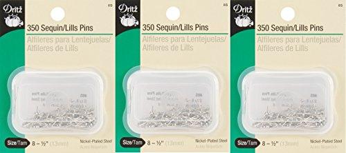 1 Pack Dritz Dritz 350-Piece Dressmaker Pins, 1-1/4-Inch (3 Pack) by Dritz