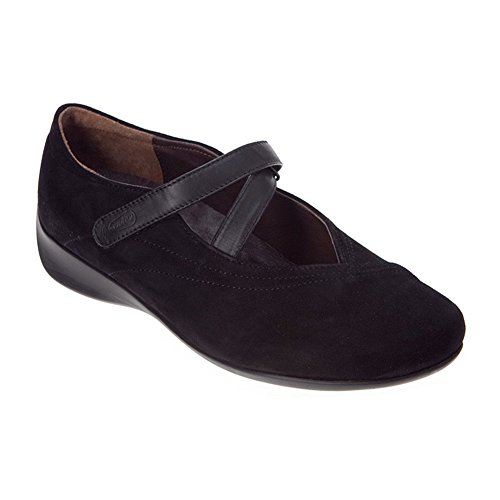 Wolky Women's Passion Black Goat Suede 38 European (Goat Suede)