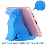 """Plinrise Mini Puppy Dog Shape Cute Cell Phone Mounts Candy Color Creative Ipad Set Material Of Silica Gel, Size:2.7"""" x 1.3"""" x 2.5"""", For Iphone Ipad Samsung Phone (Blue)"""