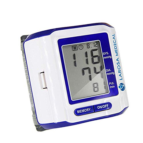 LAROSA Medical Automatic Blood Pressure Monitor - Readings Memory Function and Large LCD Display - Fast, Automatic and Easy To Use - Highly Accurate Sphygmomanometer