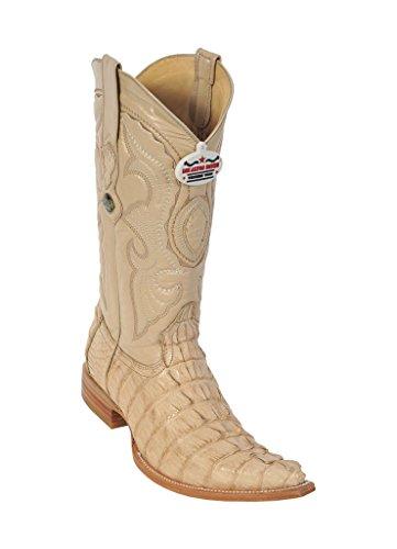 (Los Altos Men's 3X-Toe Oryx Genuine Leather Caiman Tail Western Boots)