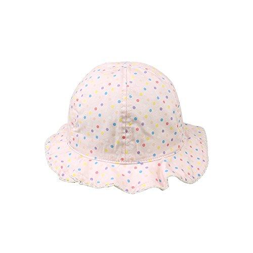 KASULAR Newborn Kids Hat Girls Travel In sunshade Hat Pure Cotton Breathable Sun Cap Spring Summer 6-18 Months(6-18 Months,pink)