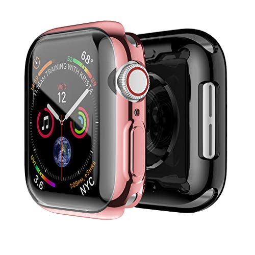 MChoice❤️2PC Electroplate TPU Screen Protector Case Cover for Apple Watch Serie 4 40mm (Pink) ()