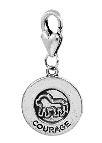 Courage Cowardly Lion Medallion Brave Lobster Clip Dangle Charm for Bracelets Crafting Key Chain Bracelet Necklace Jewelry Accessories - Medallion Pinecone