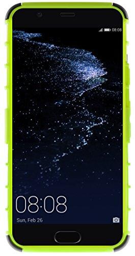 Funda Huawei P10, G-Shield Carcasa Extremo Protección [Con Soporte] [Anti-Arañazos] [Anti-Choque] [Muy Resistente] Híbrida a Prueba de Golpes Case Cover Para Huawei P10 - Rojo Verde