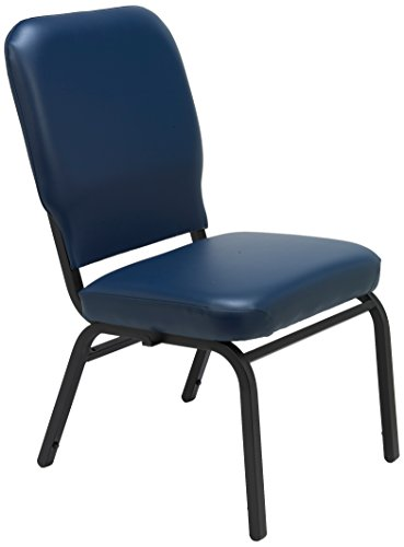 - KFI Seating Big and Tall Armless Guest Chair, Navy Vinyl