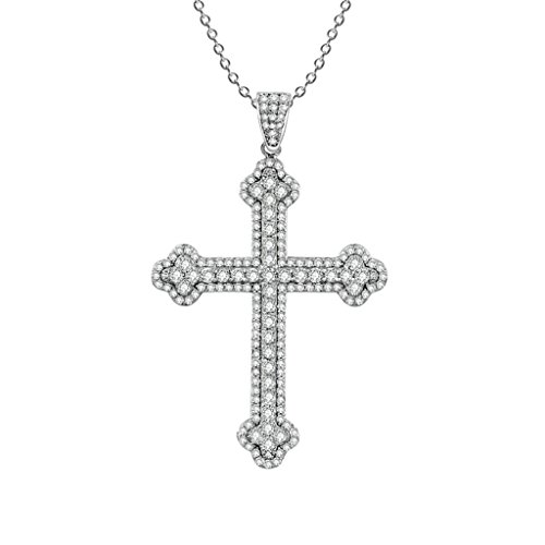 Aooaz Femmes Mesdames Argent Pendentif Collier Croix Zircon Cubique Collier