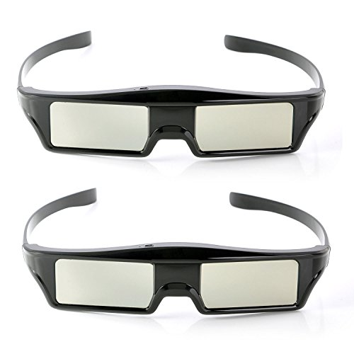 2x Replacement Wireless Active 3D Shutter Glasses Rechargeable for Epson Projector Eyewear RF ELPGS03, PowerLite Home Pro Cinema ()