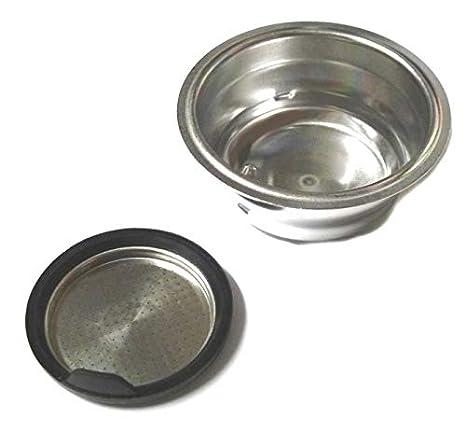DeLonghi - Filtro de 2 tazas para dosis en polvo, máquina de café Dedica EC680 Distinta ECI341: Amazon.es: Hogar