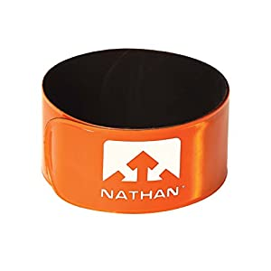 Nathan Reflex Snap Band (2 pack), Hi-Viz Orange Atomic Blue