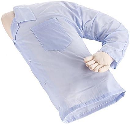 Almohada con forma de medio cuerpo y brazo de hombre, para darte cariño