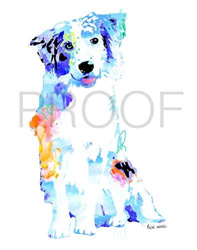 (australian shepherd dog pet portrait | Jacks | 11x14