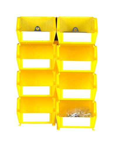 Triton Products 028-Y Bin Kits for Pegboard Storage, Yellow, 8-Pieces Triton Products Bin Kit