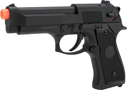 Evike - CYMA Advanced Full Auto Select Fire M9 Airsoft AEP Hand Gun Package (Color: ()