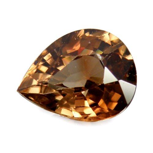 (thaigeneration 1.70 Ct. Unheated Natural Pear Brown Zircon Loose Gemstone)