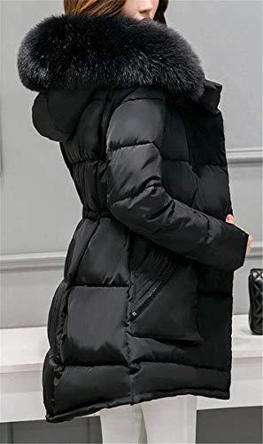 Doudoune Longues Hiver Capuchon Fourrure Facile Chaud Femme Sp avec Manteau Tqy8d