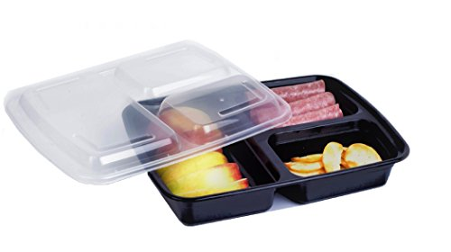 Green Direct 3 Compartment Meal Prep containers/Large Food C