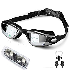 EXP VISION Swim Goggles, Wide View Swimming Goggles No Leaking Anti Fog Swim Goggles UV Protection Triathlon Water…