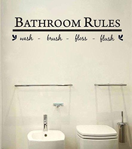 Bathroom wall art decal sticker funny kids reminder for Bathroom art amazon