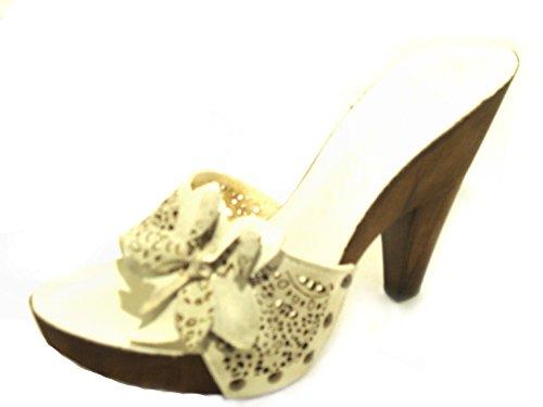 CAFèNOIR Women's Zoccolo Donna Art Eh704 Clogs white Bianco 1aHON
