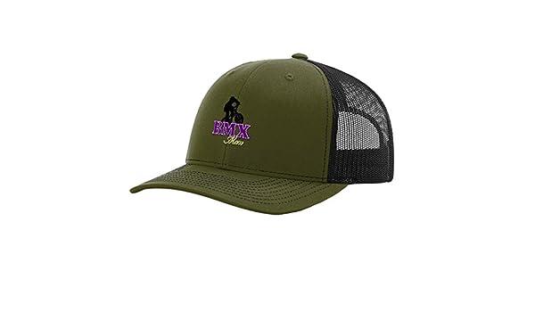 7e6c13e8 Amazon.com: Sport BMX Mom Logo Embroidery Richardson Structured Front Mesh  Back Cap Hat - Loden/Black: Clothing