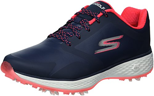 Skechers Performance Women's Go Pro Golf-Shoes,navy/pink,7 M US
