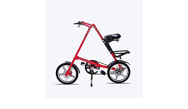JEANN-roadbike Bicicleta portátil para Adultos Plegable, Rueda de ...