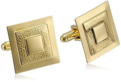 Gold Tone Square Cufflinks - 9