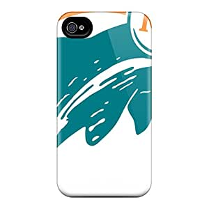 Anti-Scratch Hard Cell-phone Case For Iphone 6 With Allow Personal Design Trendy Miami Dolphins Image Cases-best-covers