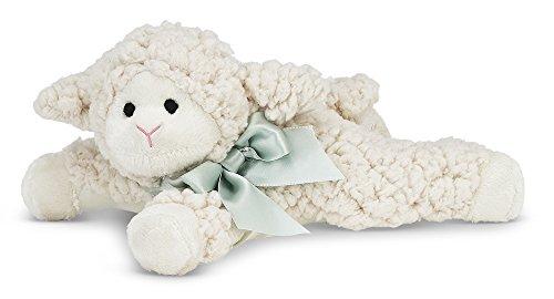 Bearington Baby Baa Plush Stuffed Animal Lamb Rattle (Animal Rattles)