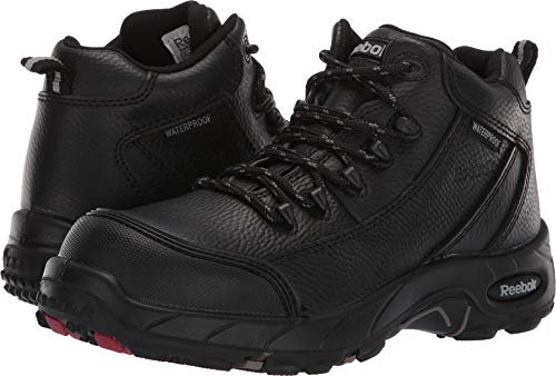 Reebok Women's Tiahawk Waterproof Sport Hiking Boot Composite Toe Black 6.5 D(M) US by Reebok (Image #3)