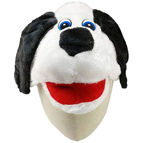 (Cartoon Animal Hat Fluffy Plush Cap Earmuff Unisex Dress up The hat,Light)