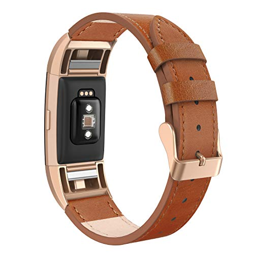 (SWEES Bands Compatible Fitbit Charge 2 Leather Small (5.6