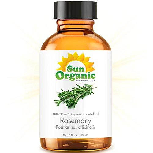 Органические Розмарин (2 жидких унций) Эфирное масло 100% Pure - Лучшие 2 унции (59ml) - Sun Органическая