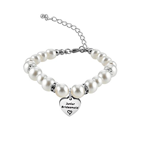 Zuo Bao Bridesmaid Jewelry Gift Crystal Pearl Bracelet for Chief/Junior Bridesmaids (Junior Bridesmaid)]()