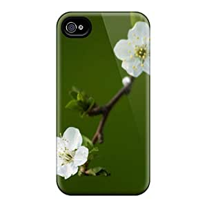 New Premium SDB1653kakb Case Cover For Iphone 4/4s/ White Plum Flowers Protective Case Cover