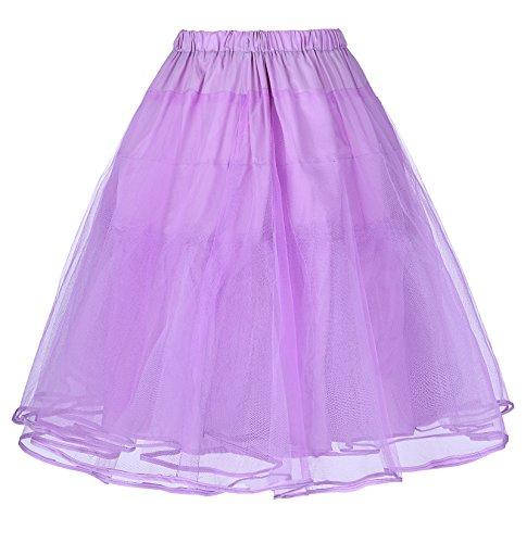 Cancán Tul Enaguas Tutú 8 Miriñaque Mujer Falda bp0229 Poque® para Belle Wisteria Vestido Vintage de Retro qzvIZB