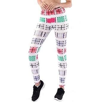 Pantalones Yoga Mujeres Impresión Rayas, Mallas pantalón Chandal ...