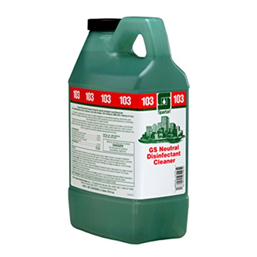 Spartan Clean on the Go Green Solutions 103 Neutral Disinfectant Cleaner, 2 Liter Bottle, 4 Bottles Per Case (Morning Mist)