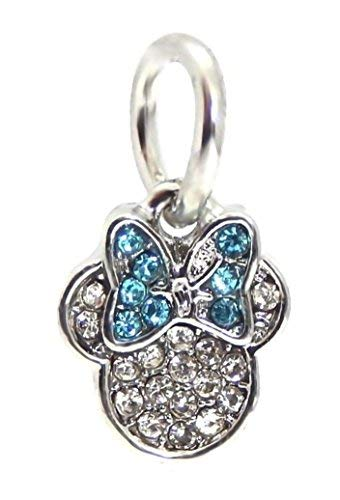 J&M Dangle Crystal Mouse with Blue Bow Charm Bead for ()