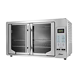 Oster French Convection Countertop and Toaster Oven | Single Door Pull and Digital Controls | Stainless Steel, Extra…