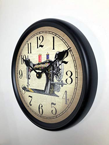 Sewing Room 2 Wall Clock, Available in 8 Sizes, Most Sizes Ship 2-3 Days,